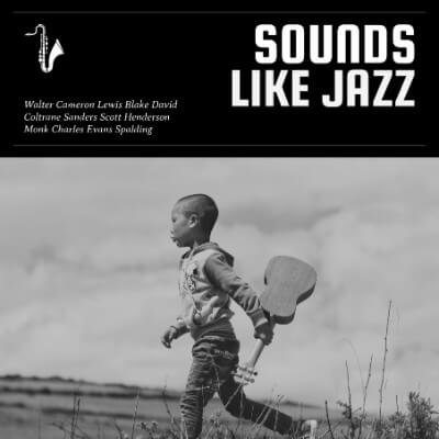 Jazz Album Cover Maker With Black And White Images