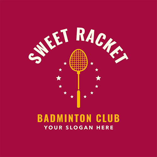 Badminton Club Logo Maker With A Badminton Racket Clipart 1631e