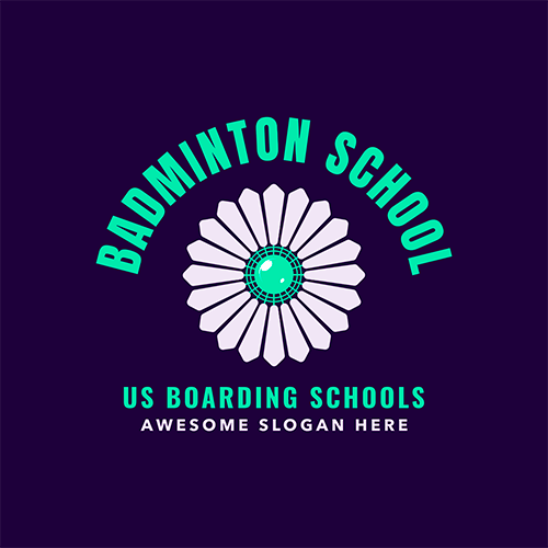 Badminton Logo Maker For A School Team With A Shuttlecock Symbol 1631b (1)