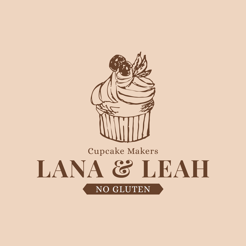 Bakery Logo Maker With Cupcake Muffin