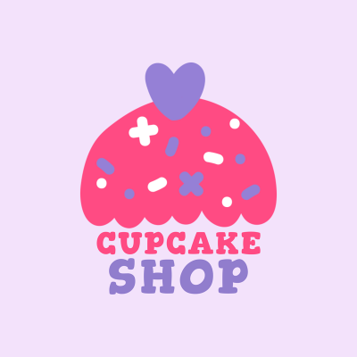 Cartoon Logo Maker For Cupcake Shops