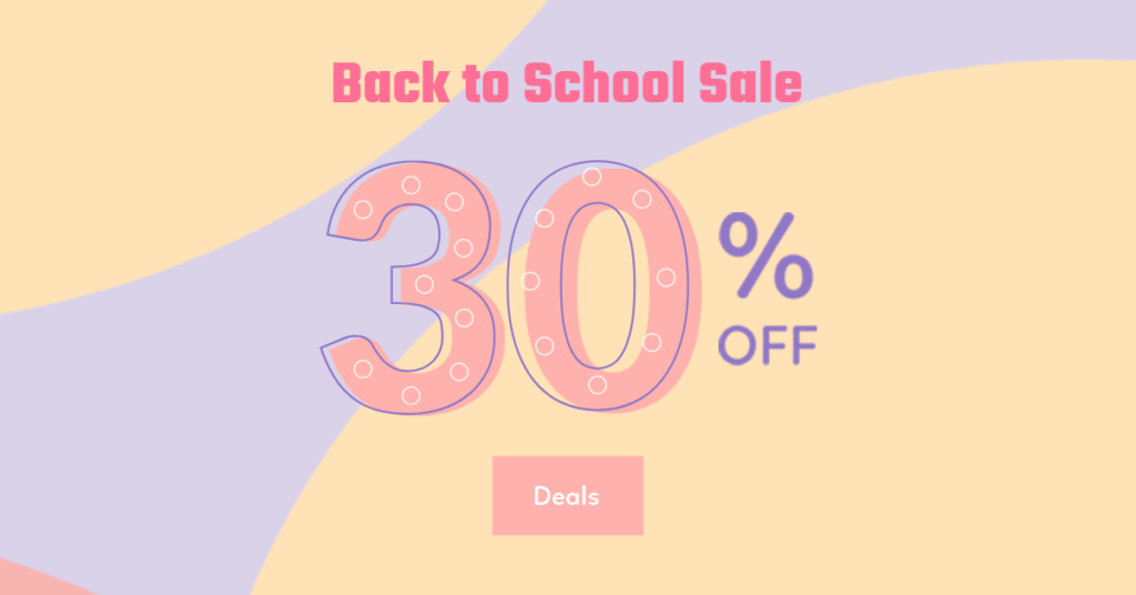 Sale Banner Maker With Pastel Graphics
