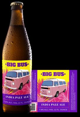 Big Bus Beer Label