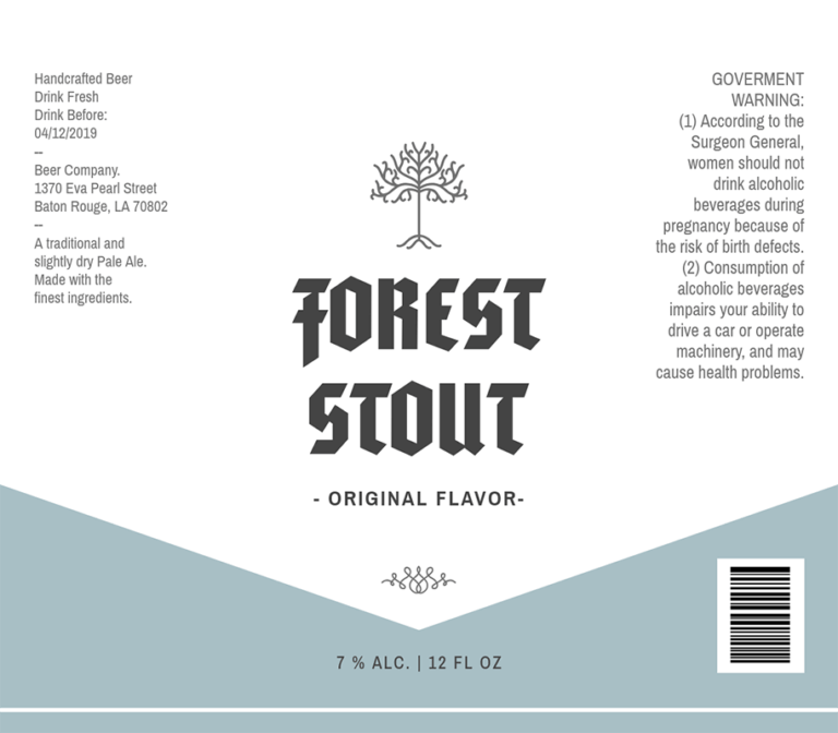 Craft Beer Label Template For Stout Beer 764c