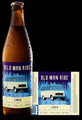Old Man Ride Beer Label