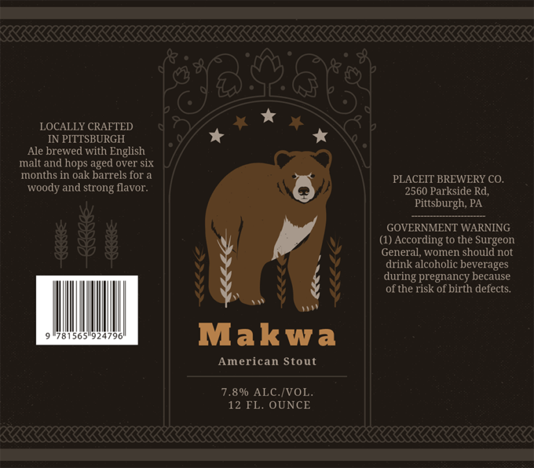 Stout Beer Label Design Template For Stout Beers 768c