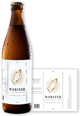 Webster Beer Label