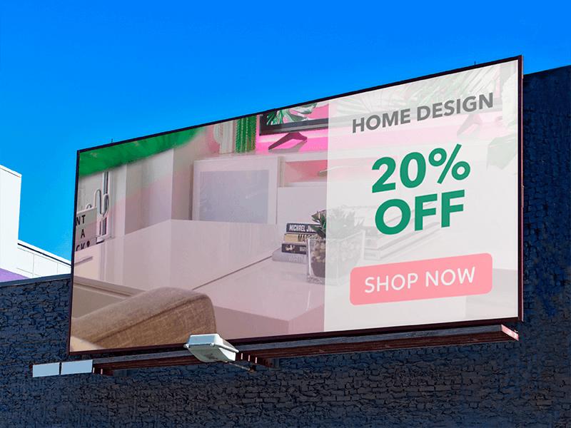 Billboard Mockup With Ad