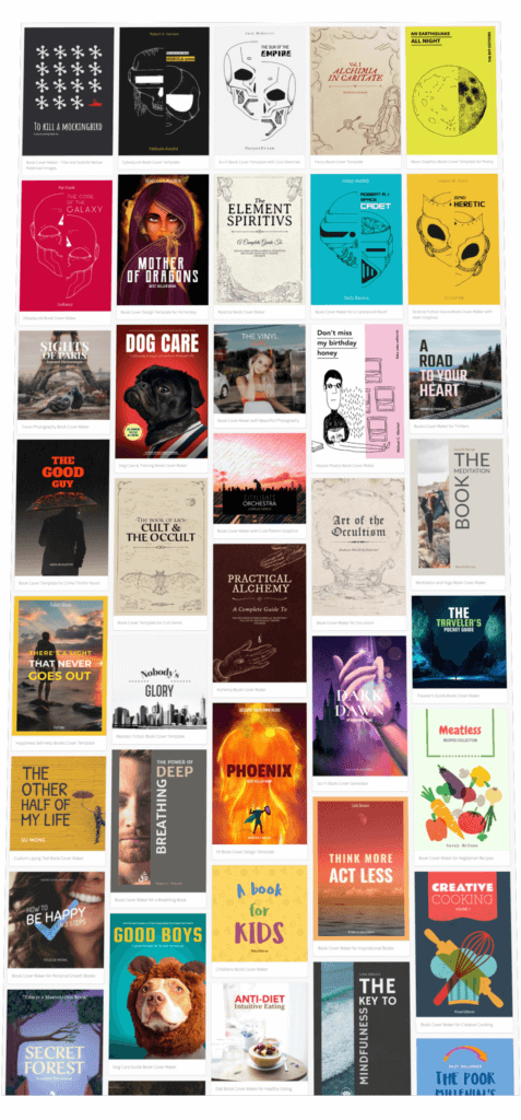 Book Cover Templates For Different Book Genres And Styles