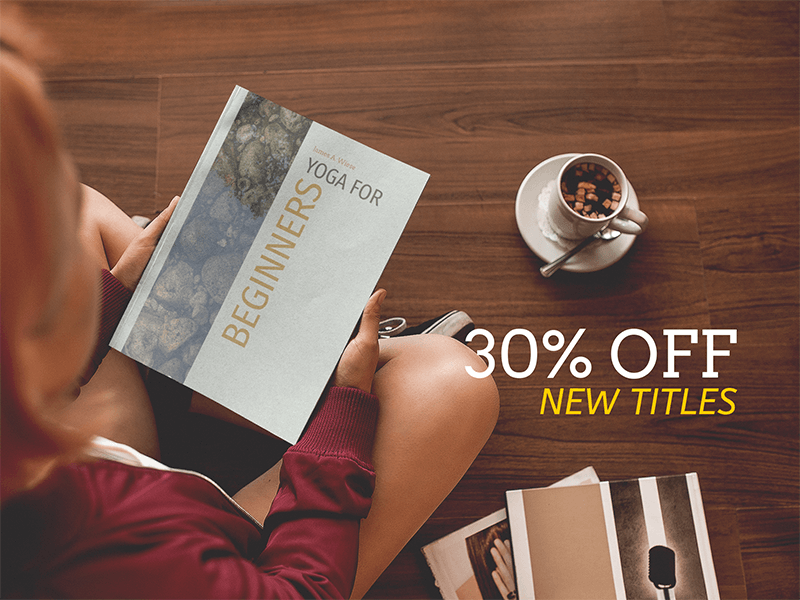 Ebook Ad Girl Holding A Book While Sitting Down