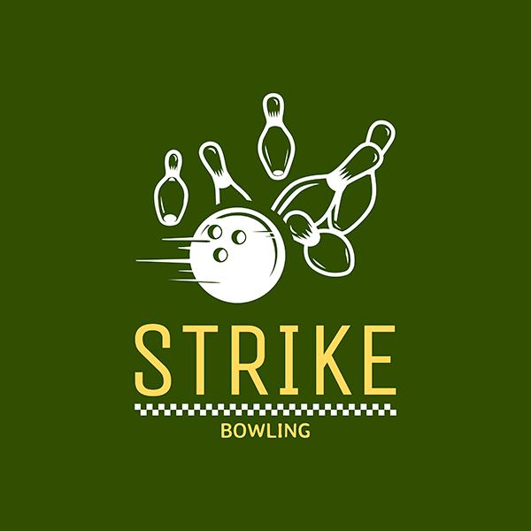 Bowling Logo Creator With Striking Ten Pin Graphic 1589b