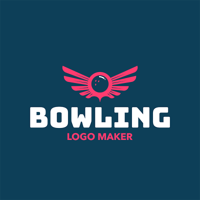 Bowling Logo Creator With Winged Bowling Ball Graphic 1587b