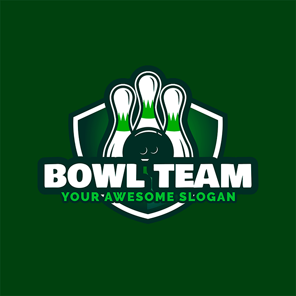 Bowling Logo Maker For Bowling Team With Ball And Pins Graphics 1586c