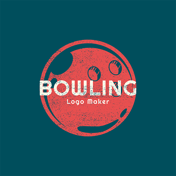 Bowling Logo Maker With Bowling Ball Clipart 1585e