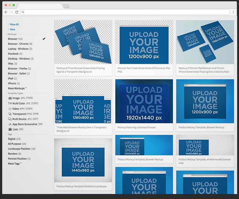 Browser Mockup Tutorial Step 1