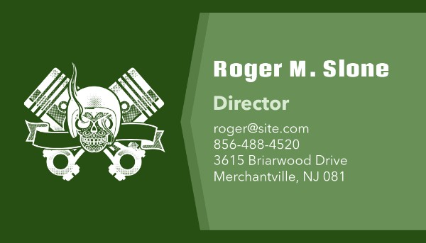 Auto Repair Business Card Maker