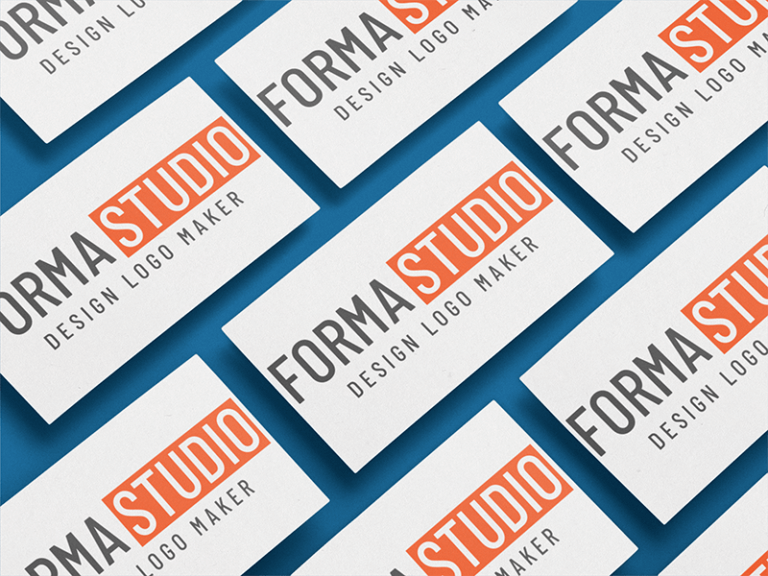Business Card Mockup Of Multiple Cards In An Angled Arrangement A6222