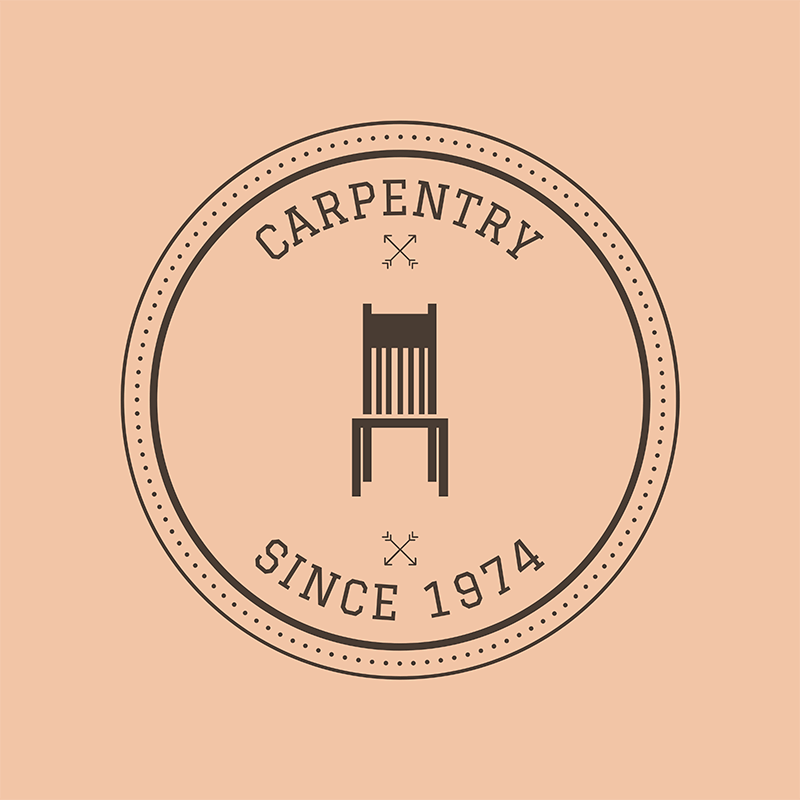 Carpentry Logo Maker For A Vintage Carpentry