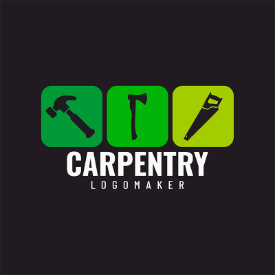 Carpentry Logo Maker With Square Graphics