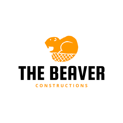 Construction Company Logo Maker With Beaver Icon