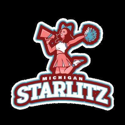Cheerleader Logo Generator With A Cheerleader Using A Megaphone