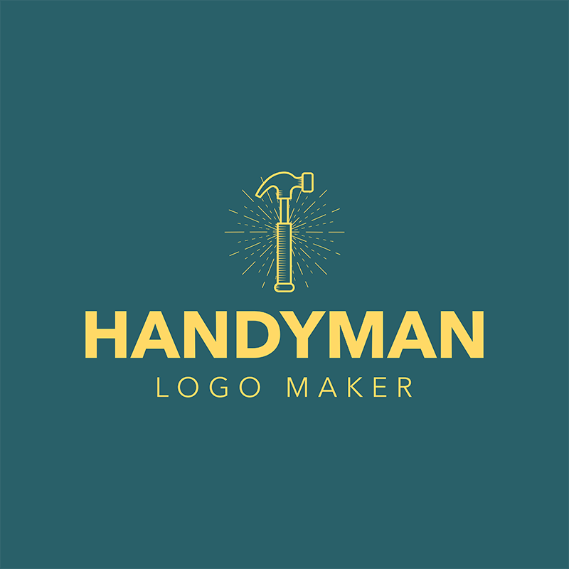 Handyman Logo Maker With Hammer Icon