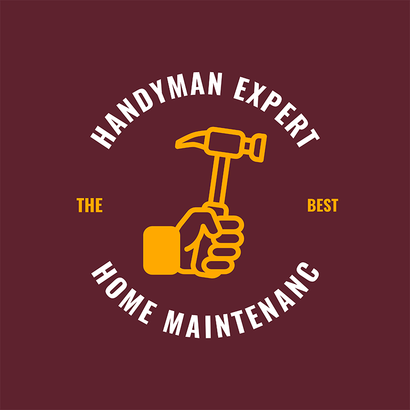 Handymen Services Logo Template With A Tool Image