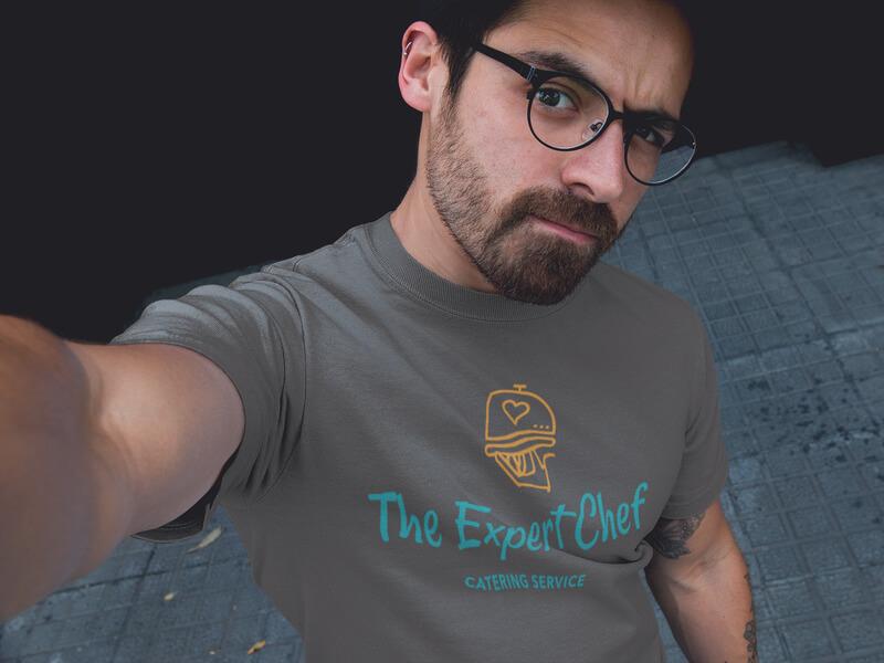 The Expert Chef Tshirt Mockup