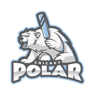 Cricket Logo Maker With Bear Graphic On Transparent Background