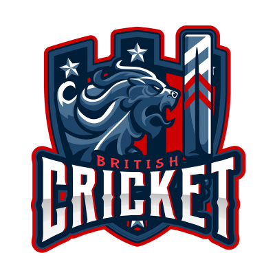 Cricket Team Logo Design Template Featuring Cricket Graphics