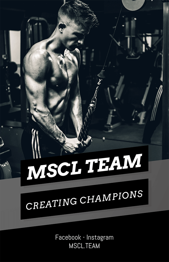 Bodybuilding Training Flyer Template 696e