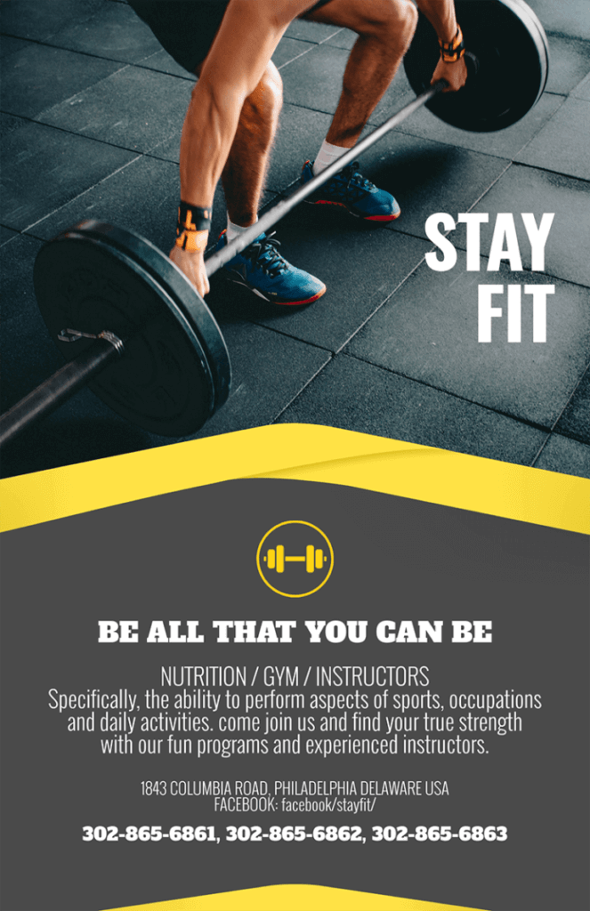 Fitness Flyar Be Fit 768x1187