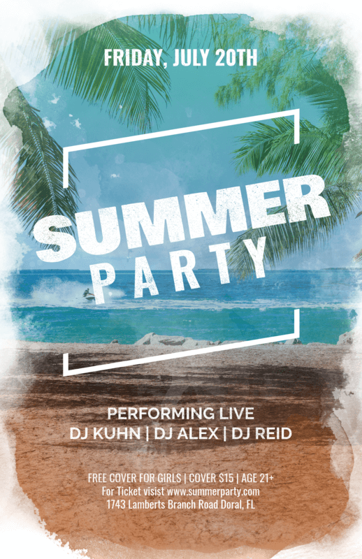 Online Flyer Maker For A Summer Party
