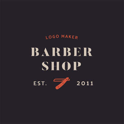 Barber Logo Maker With Clipper Graphics 1471e