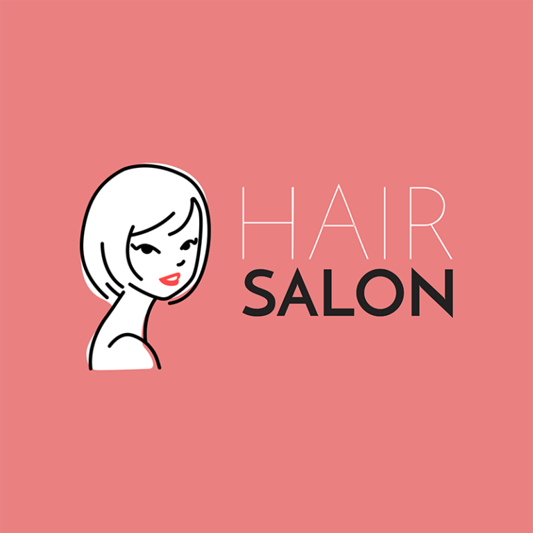 Hair Salon Logo Maker With Line Art