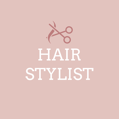 Hair Stylist Logo Template With Scissor Clipart