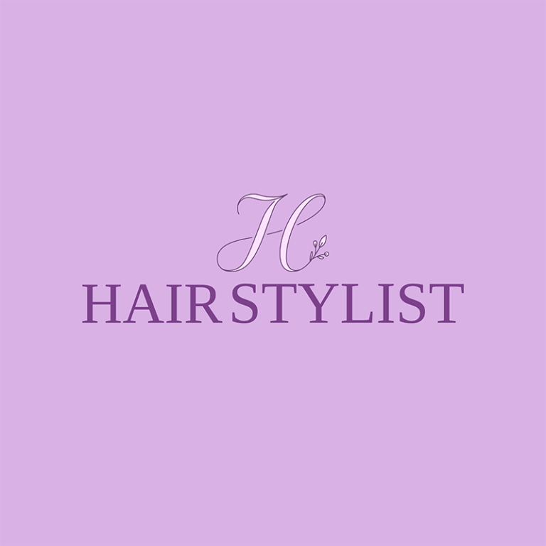 Hairstylist Logo Maker With Floral Fonts