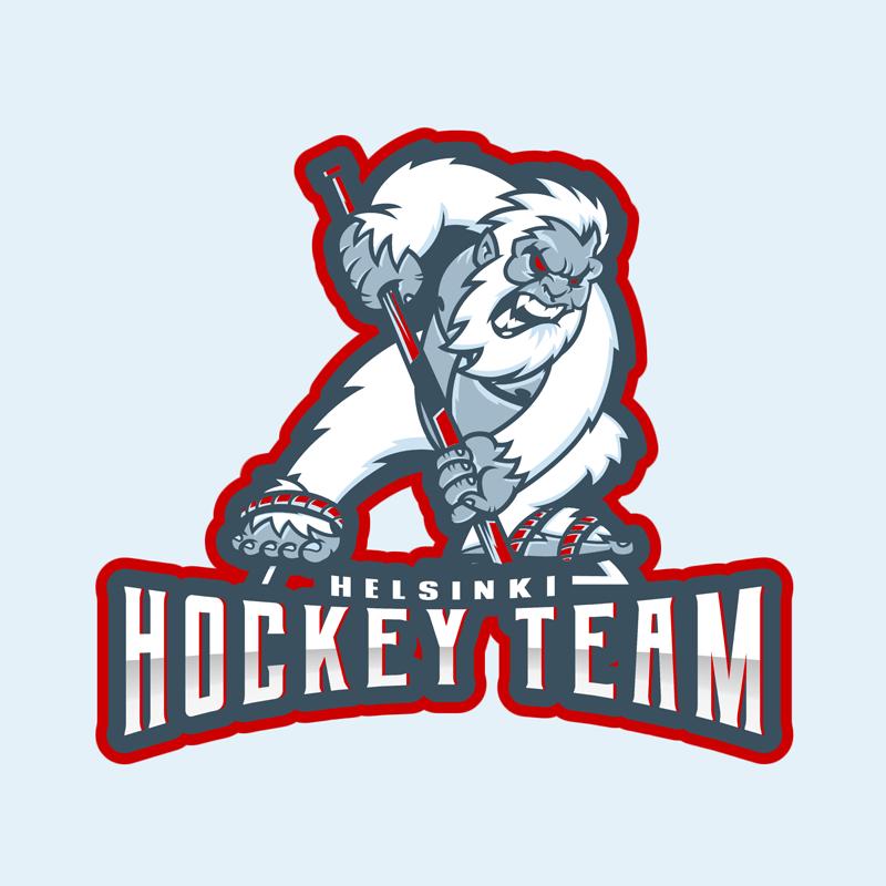 Hockey Logo Design Template Mascot Illustration