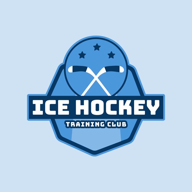 Hockey Logo Maker Sticks Stars