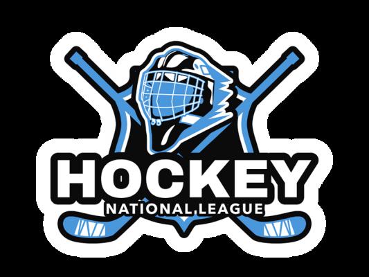 Hockey Logo With Sticks