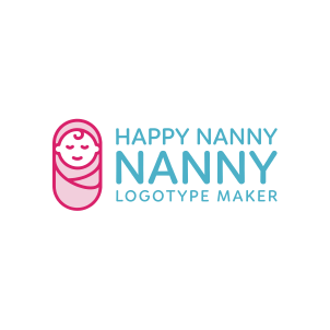 Happy Nanny Logo Maker 03