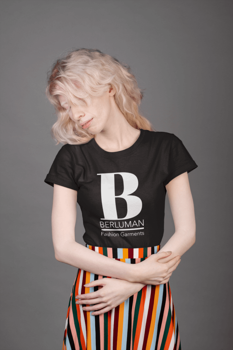 T Shirt Mockup Featuring A Woman Wearing A Striped Skirt 21896 Copy 2