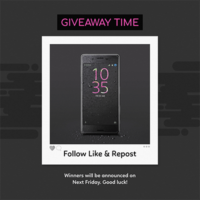Instagram Giveaway Post Template 643d