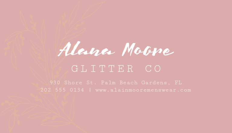 Business Card Maker For A Clothing Line