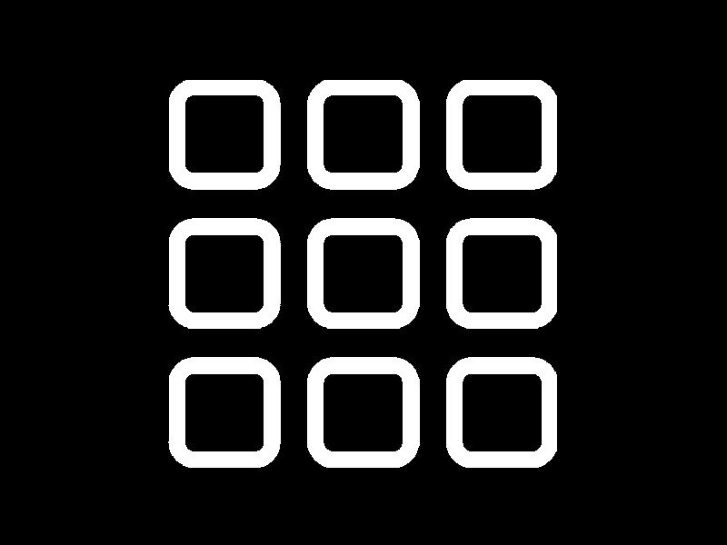 Grid Icon White