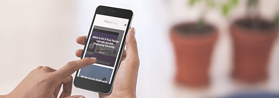 Iphone Mockup Featuring A Website Redesign