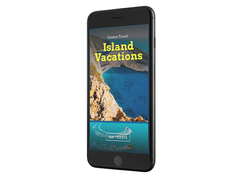 Iphone Mockup With Transparent Background Featuring Travel Images