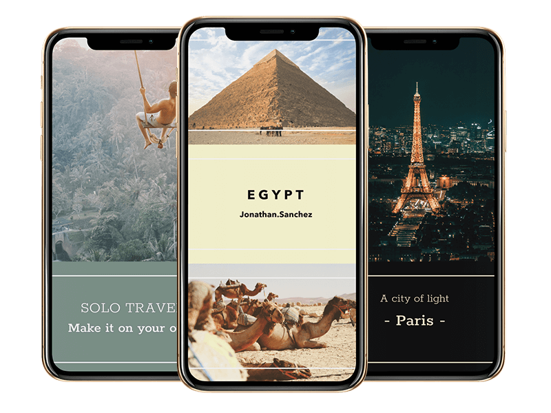 Iphone Xs Mockup On A Transparent Background With Travel Images