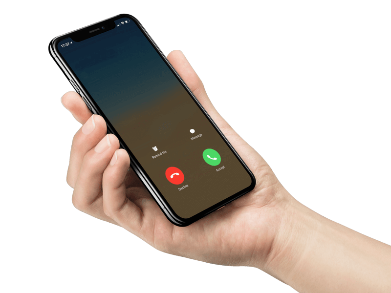 Iphone X Mockup Being Held By A Male Hand