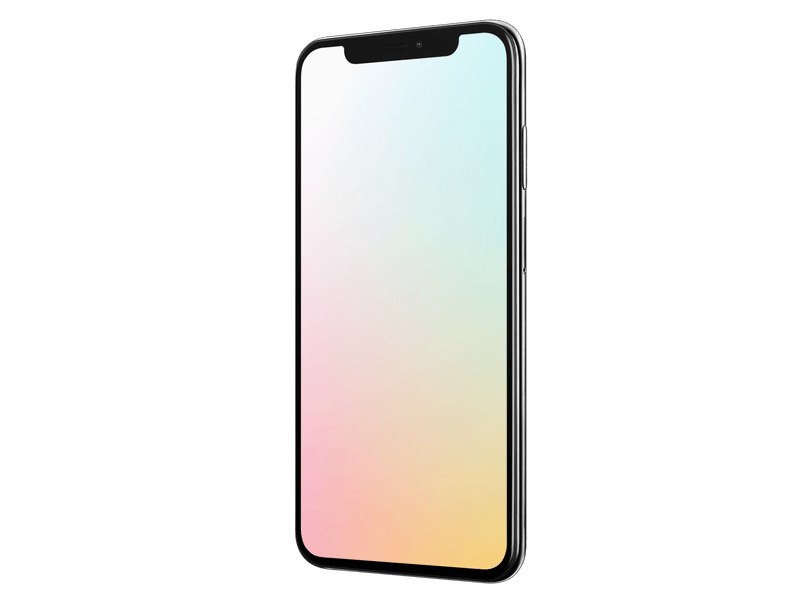 Iphone X Mockup With Colorful Back